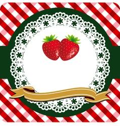 Strawberry label vector