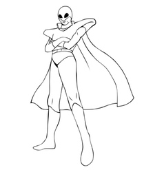 Superhero in spacesuit vector