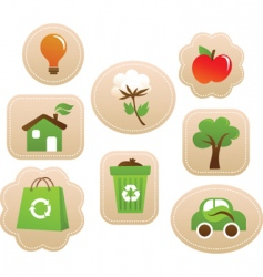 nature sticker vector image vector image