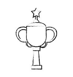 star award cup sport win vector image vector image