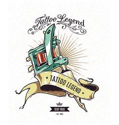 Tattoo Legend 2 vector image vector image