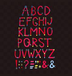 watercolor font hand drawn alphabet watercolor vector image