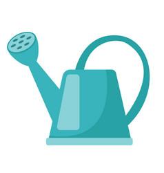 blue watering can cartoon vector image vector image