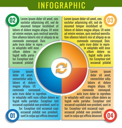 Simply infographic four parts template vector image