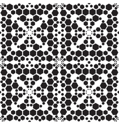 Abstract embroidery geometric seamless pattern vector image