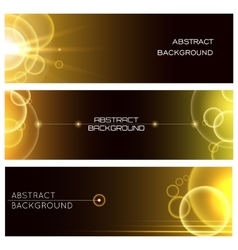 Abstract Glowing Banner Set vector image