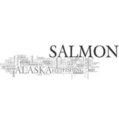 Alaska s commercial salmon fishery text word vector