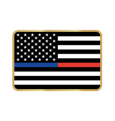 American thin line flag vector