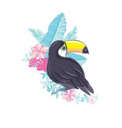 an of a nice toucan in format a cute toucan bird vector image