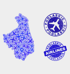 aviation composition podlaskie voivodeship vector image