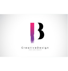 B letter logo design with creative pink purple vector