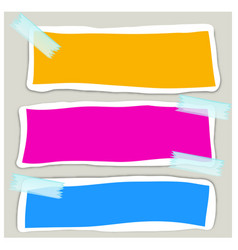banner design with three different colors vector image