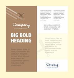 baseball bat business company poster template vector image