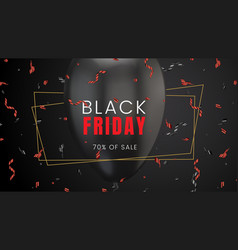 Black friday sale abstract dark background vector