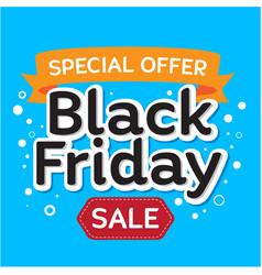 Black friday sale banner in blue background for vector