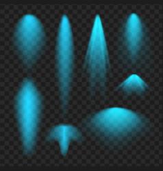 blue spotlight set light effect vector image