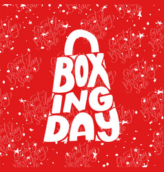 Boxing day poster banner with hand drawn vector