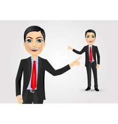 business man pointing at something vector image