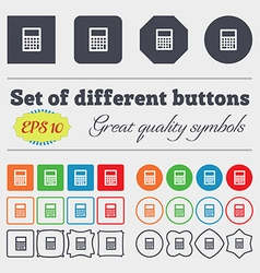Calculator icon sign Big set of colorful diverse vector image