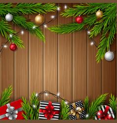 christmas gift boxes with christmas balls vector image