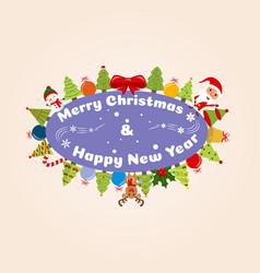 Christmas happy christmas companions vector