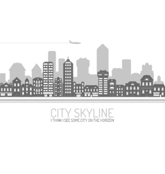 City Skyline Black vector image