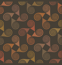 colorful seamless pattern with spiral elements vector image