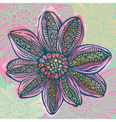 Colorful watercolor bright flower vector