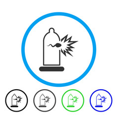 Condom sperm escape rounded icon vector