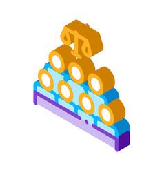 Court sitting law and judgement isometric icon vector