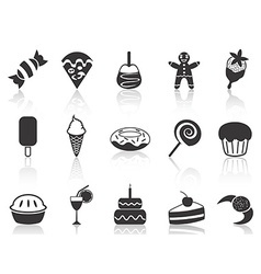 dessert icons set vector image