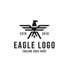 eagle logo design inspiration vector image