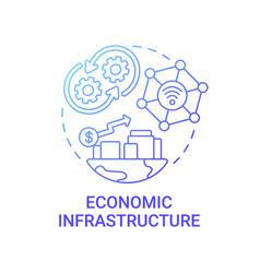 Economic infrastructure gradient blue concept icon vector