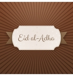 Eid al-Adha Text on paper Tag vector