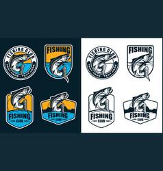 fishing logo vector image