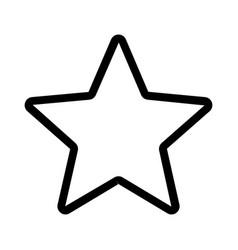 Five pointer favorite shar shape logotype on web vector