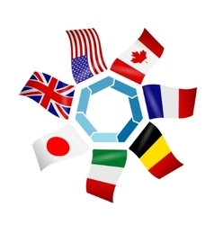 flags countries group seven vector image