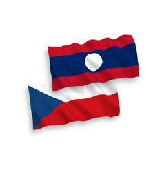 flags czech republic and laos on a white vector image