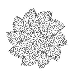 flower round ornament mandala vintage decorative vector image