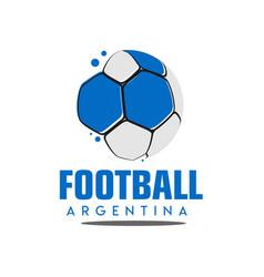 Football argentina logo template design vector