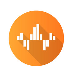 Geometric music wave orange flat design long vector