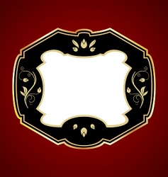 Gold framed label vector