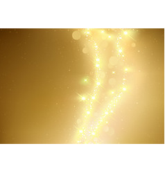 Gold sparkle background with glowing stars vector