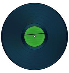 Gramophone disc vector