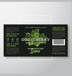 Handcrafted fruit and berry spread or jam label vector