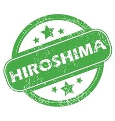 Hiroshima green stamp vector