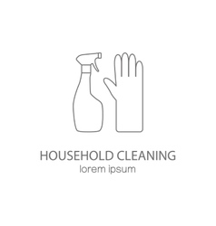 Household cleaning logotype design templates vector image