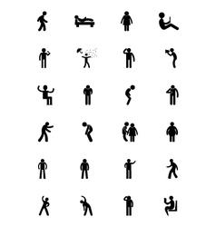 Human icons 14 vector