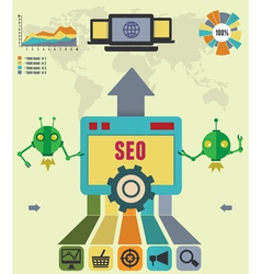 infographic seo process vector image