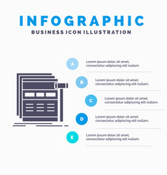 Internet page web webpage wireframe infographics vector